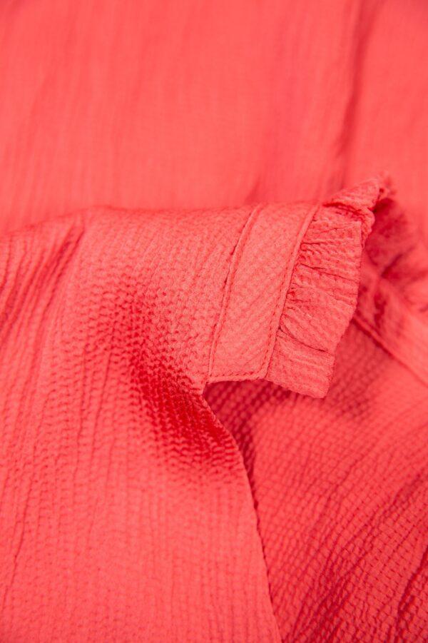 Blouse l/s fiery pink