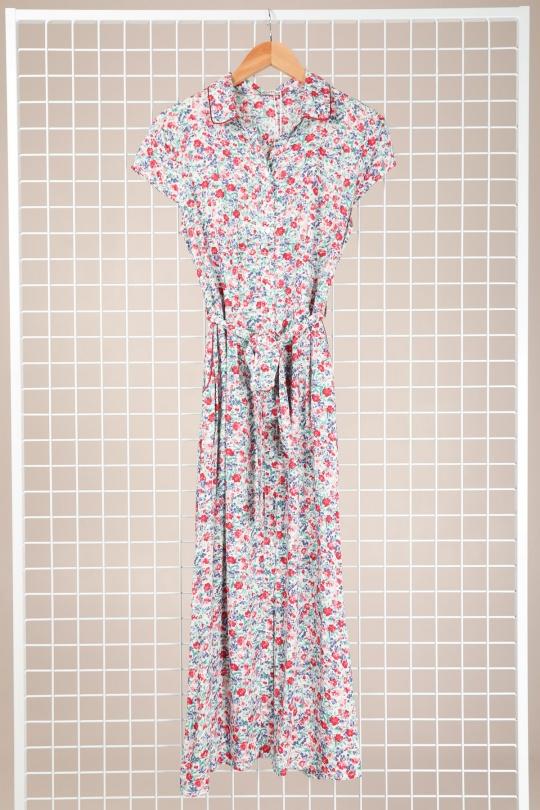 Maxi Dress Queens Blanc Rose