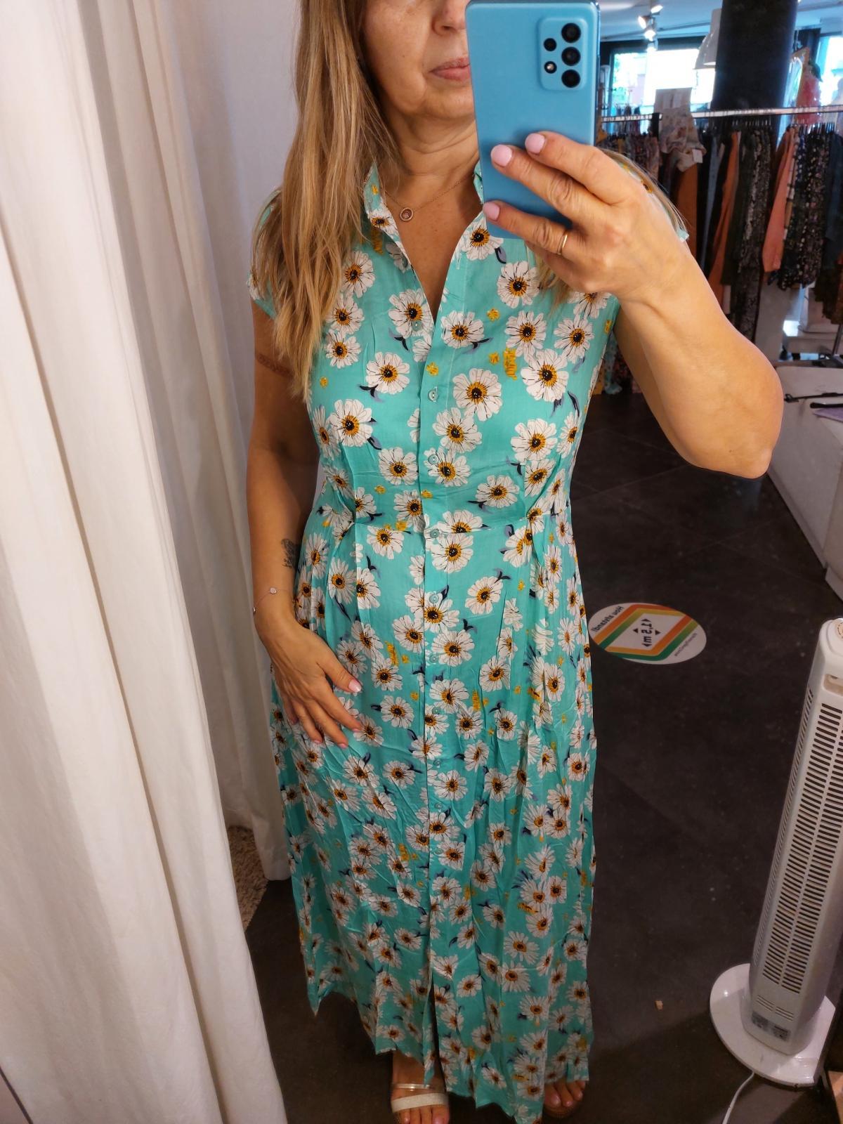 Dress daisy turqoise