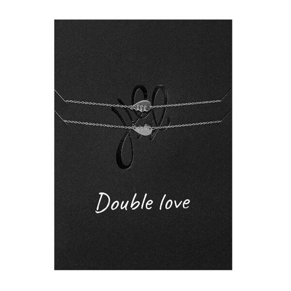 wenskaart met armband double love
