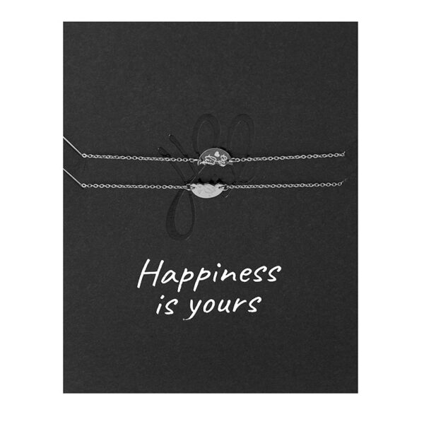 wenskaart met armband happiness is yours