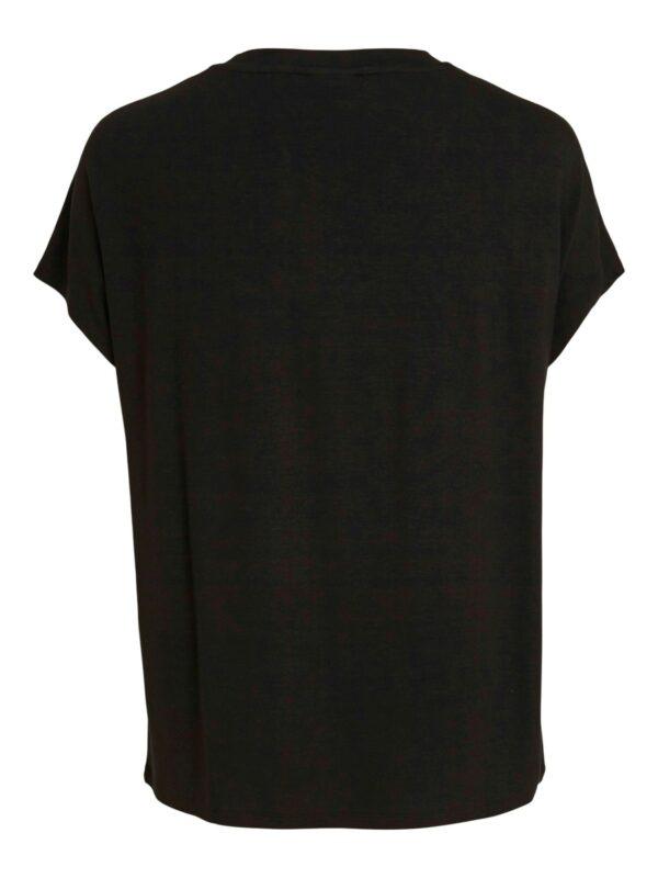 ViBelis V-neck SS top Black