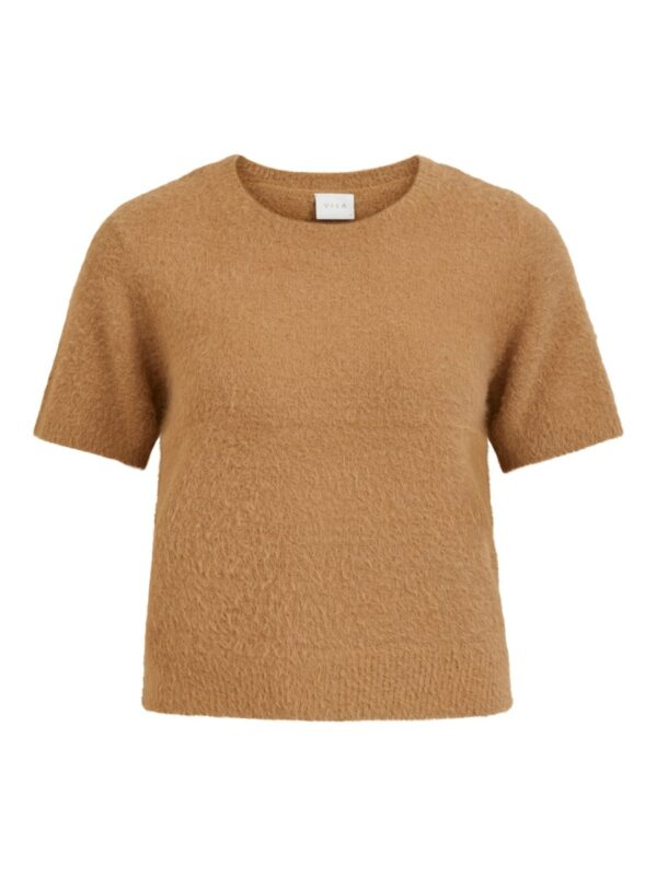 ViHelly Short Sleeve knit top Tigers Eye