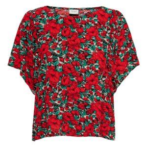 jdywossi top red flowers