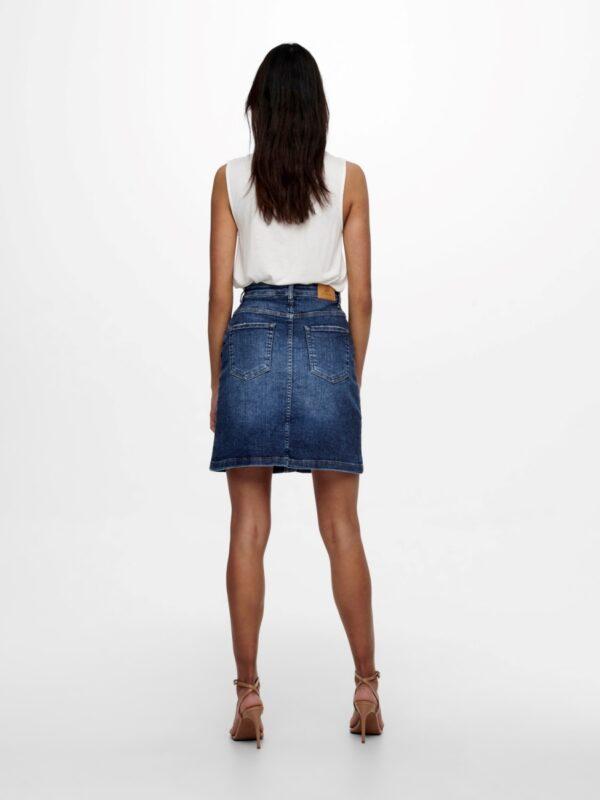 JdyTyson Button Skirt Medium Blue