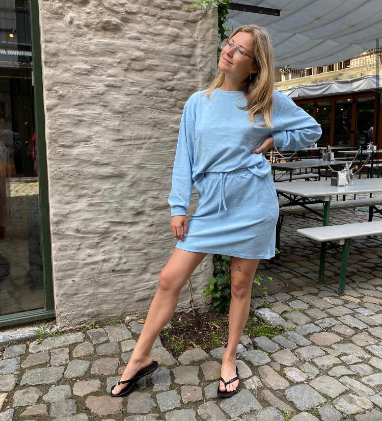 Jdyjavi skirt cashmere blue