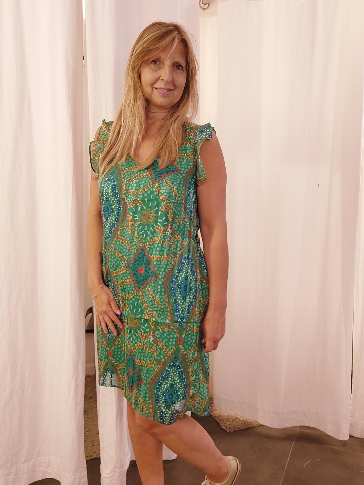 Dress green flower