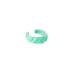 candy earcuff diagonal ridges groen