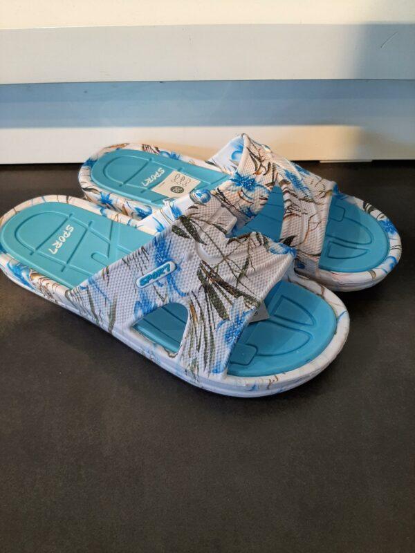 badslippers blauw