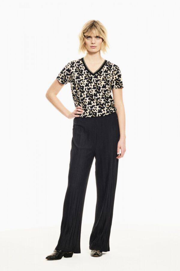 Pants plissee black