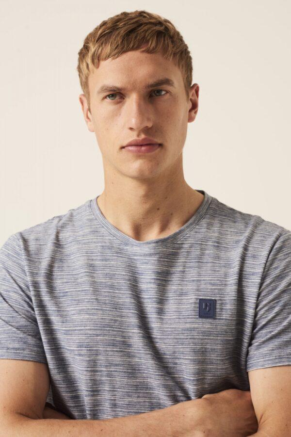T shirt fine stripe blue