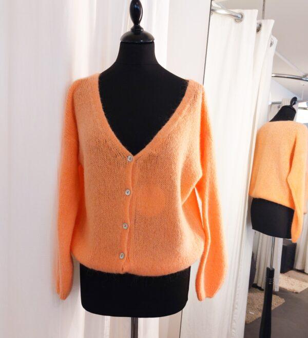 Knitted Vest Orange