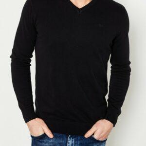 Basic V neck knit black