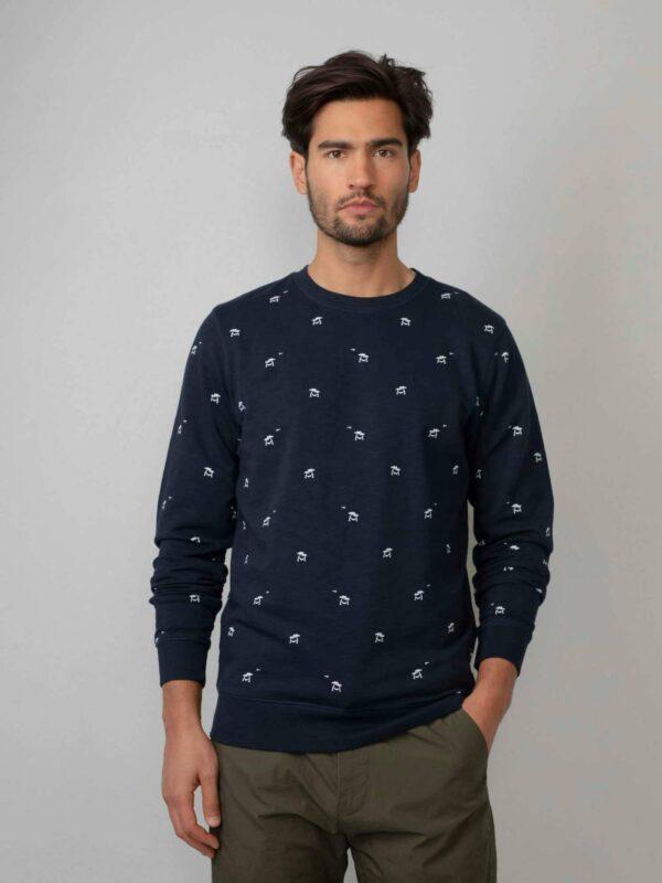 Palmtree Sweater Dark Navy