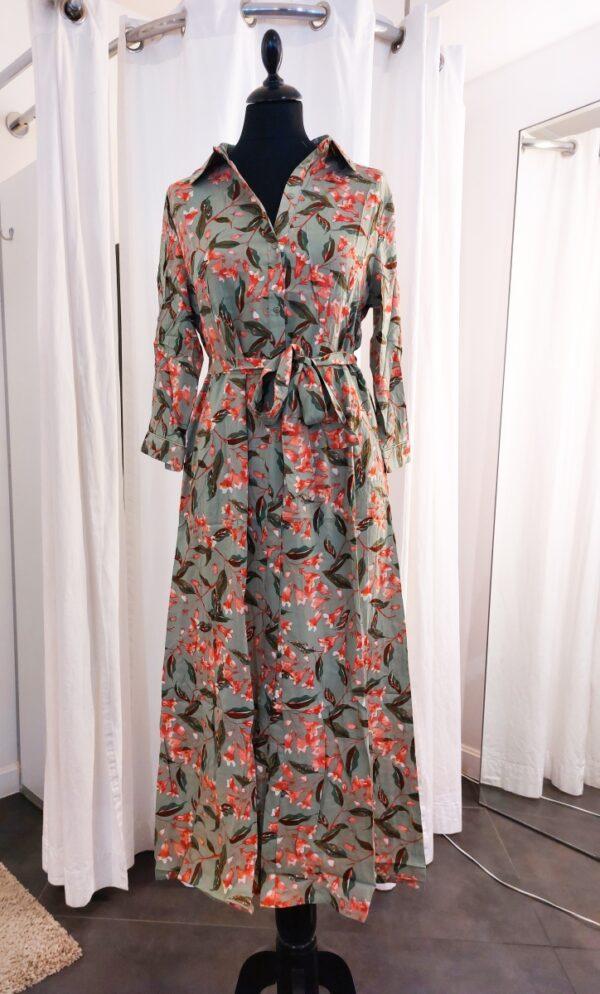 Maxi Dress Queens Green Halflange mouw