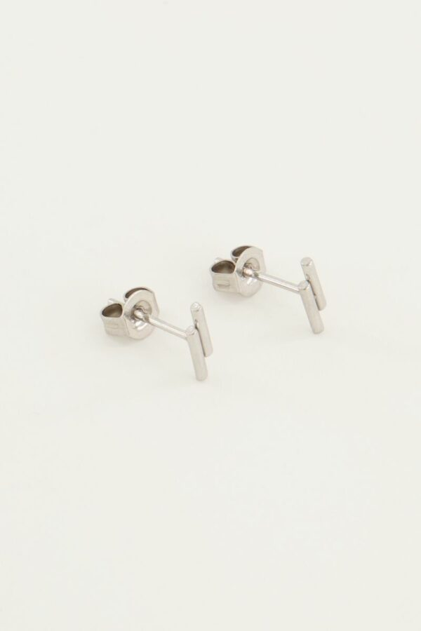 Studs 2 staafjes ZILVER