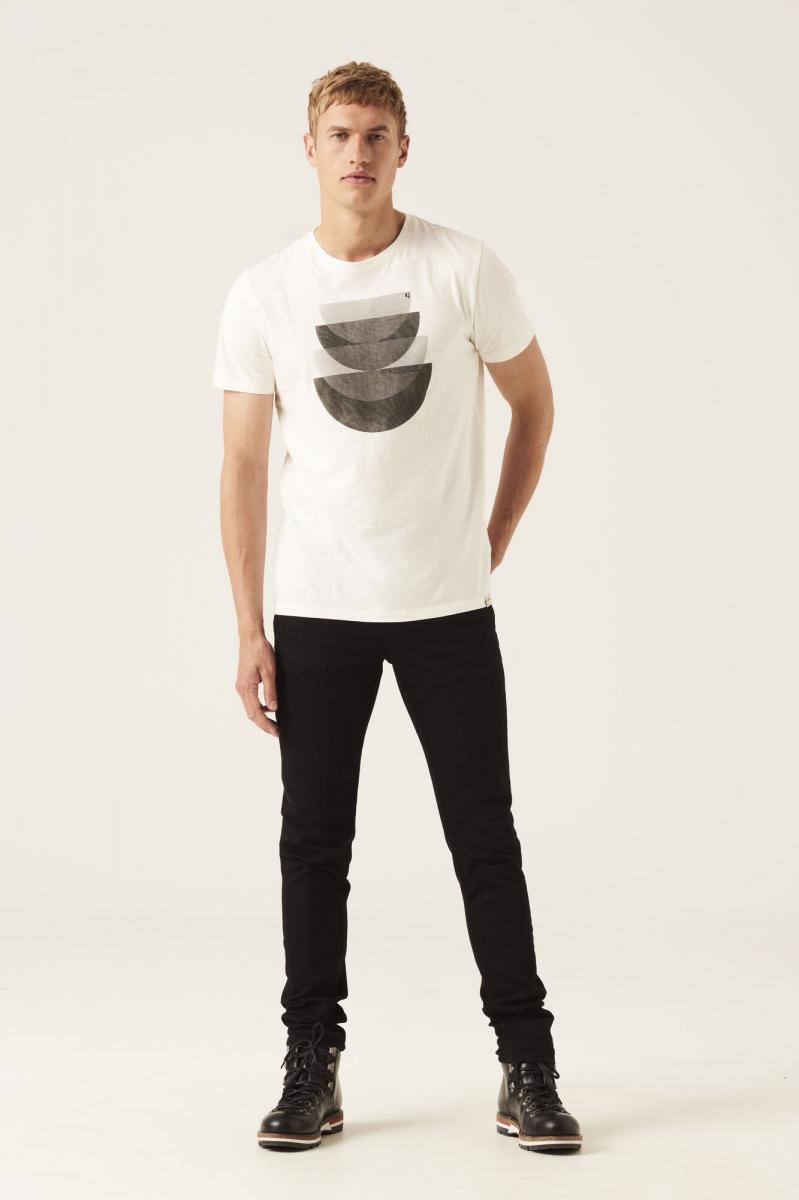 T shirt wit grijs