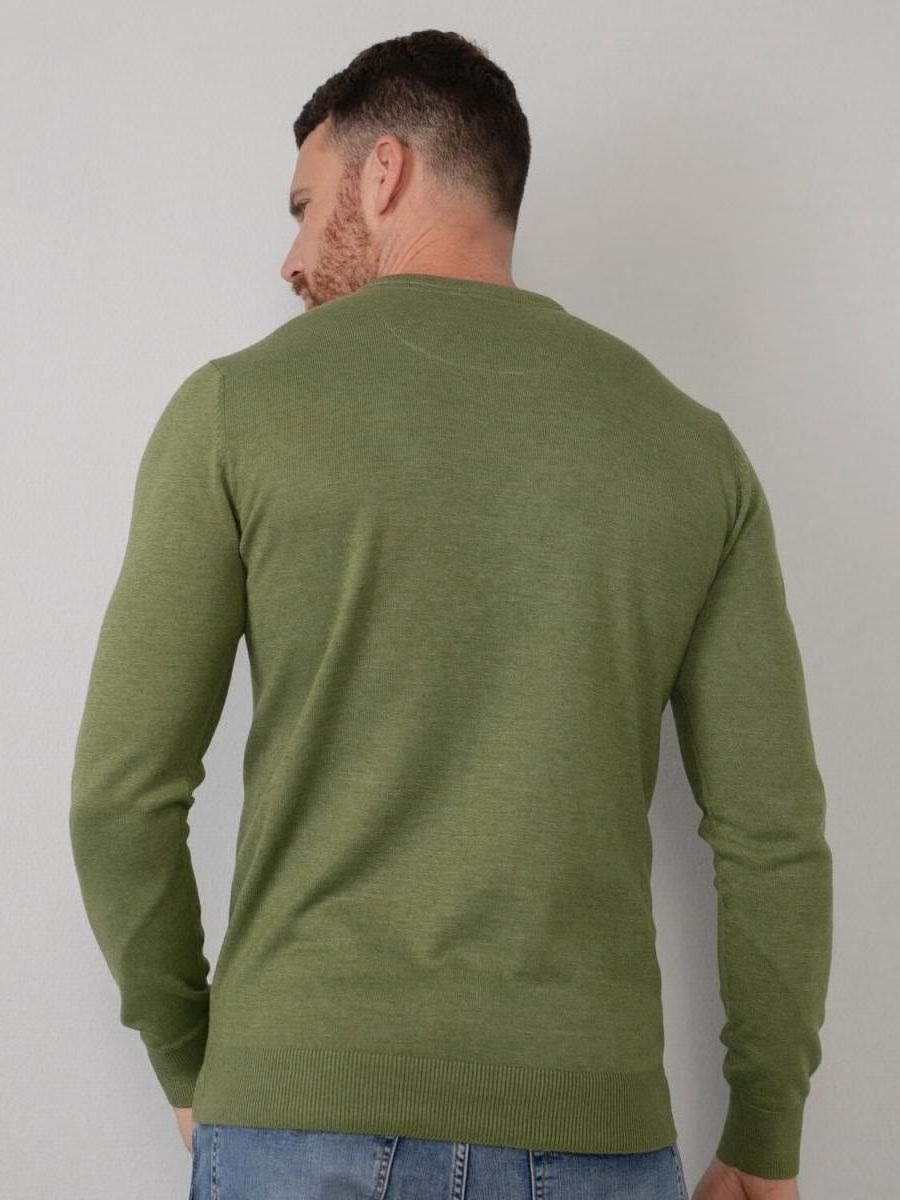Fijngebreide v-hals trui