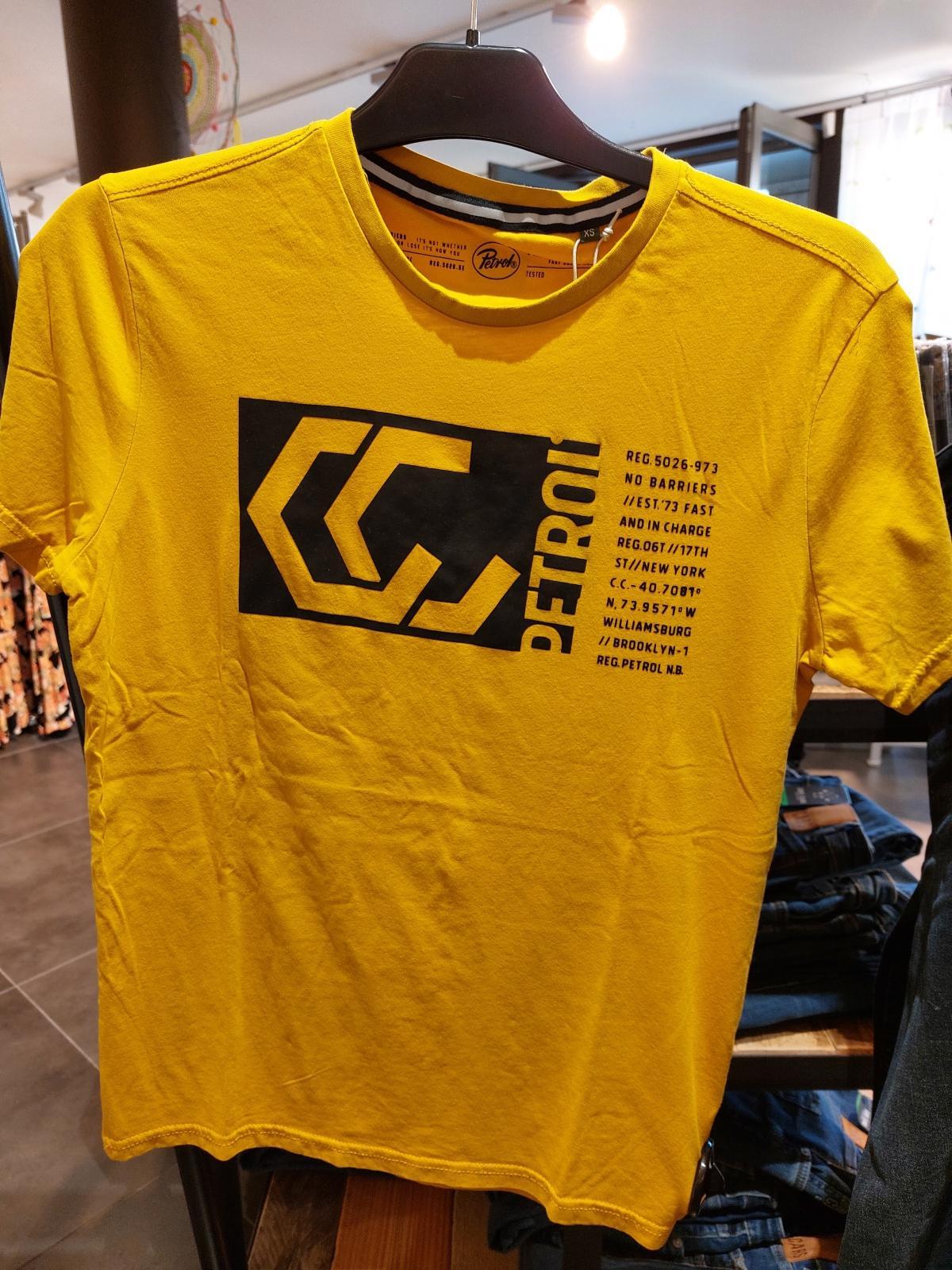 T-shirt Round Neck Antique Yellow