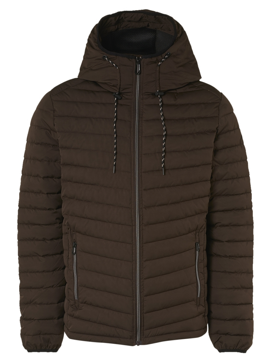 Jacket short fit hooded Coffee