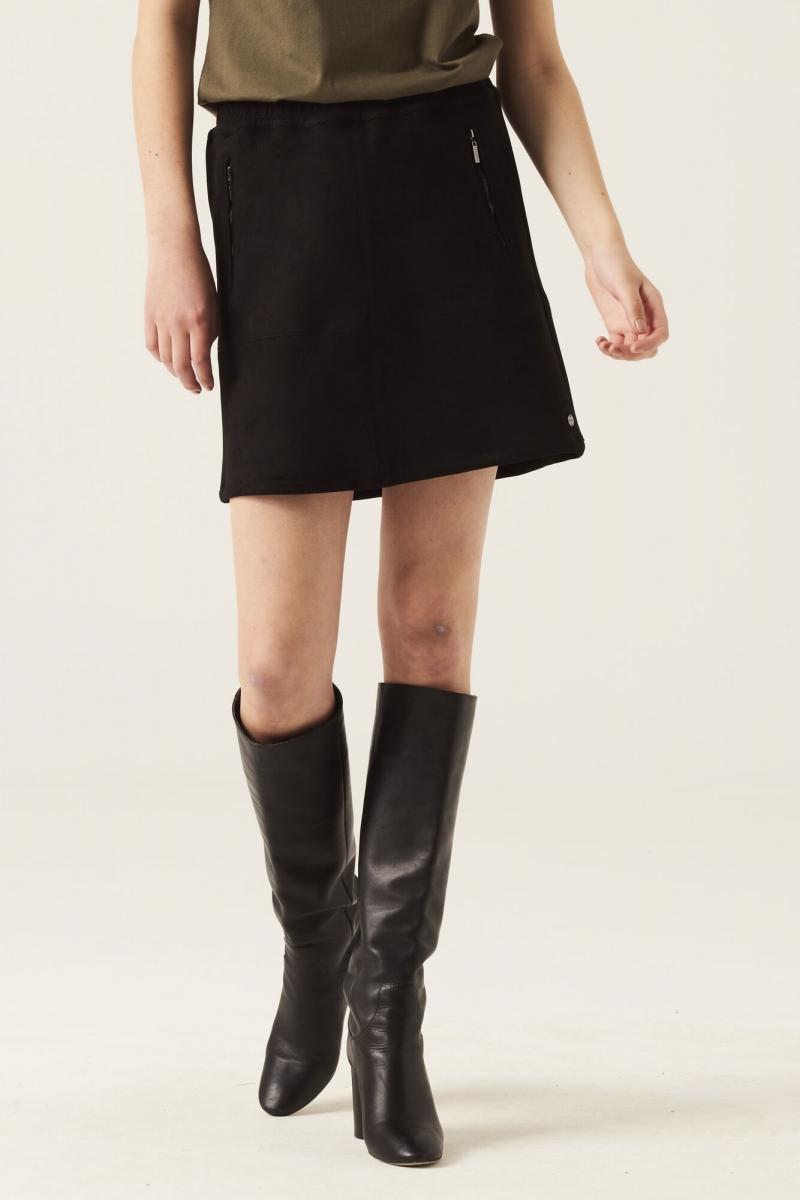 Skirt suede look black