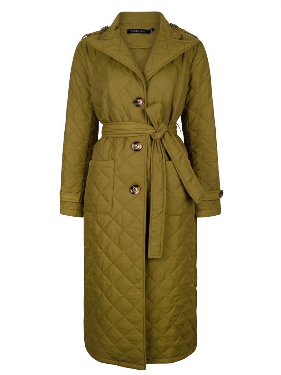 Coat Flora Olive