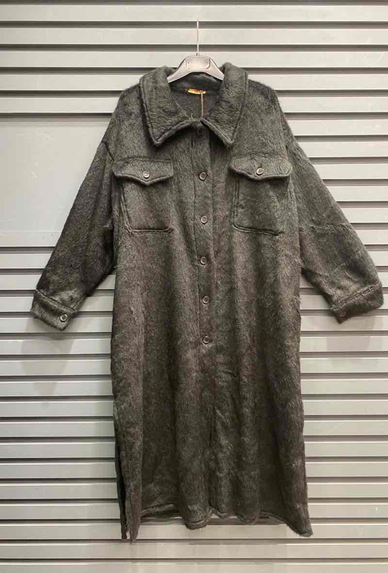Fur Coat Lang Black