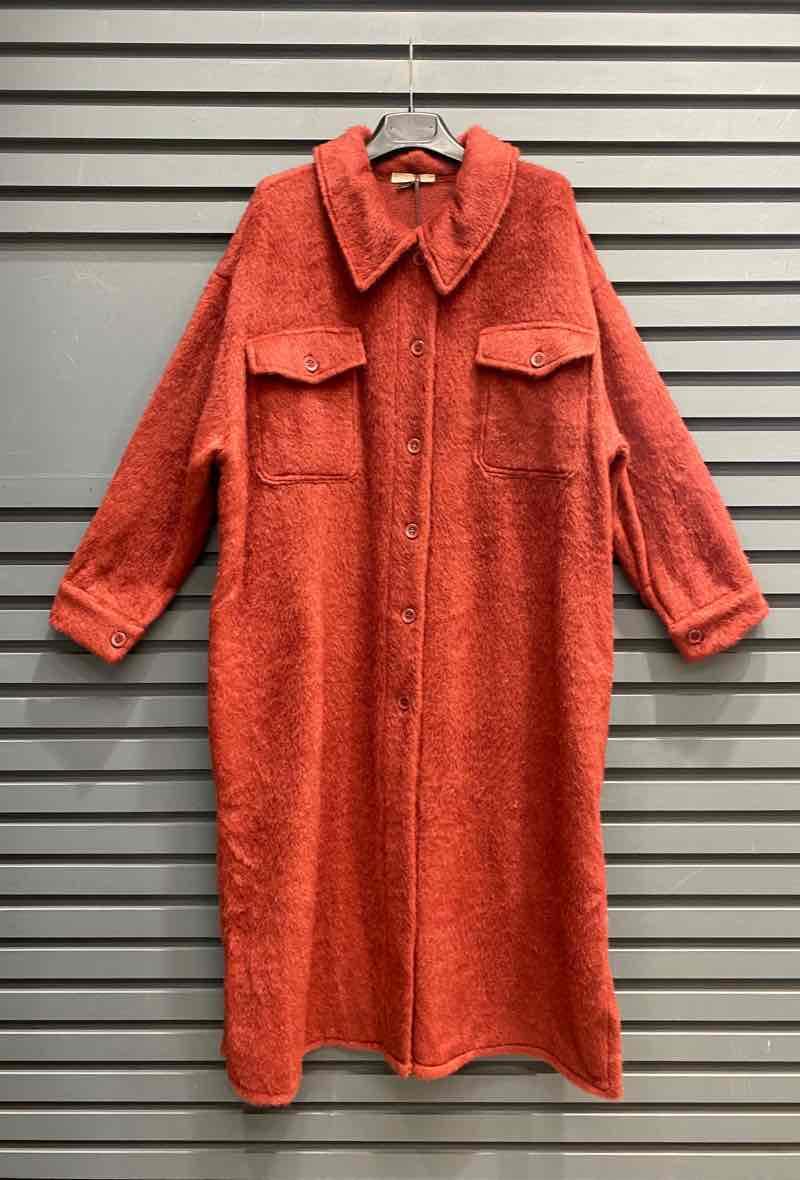 Fur Coat Lang Bordeaux