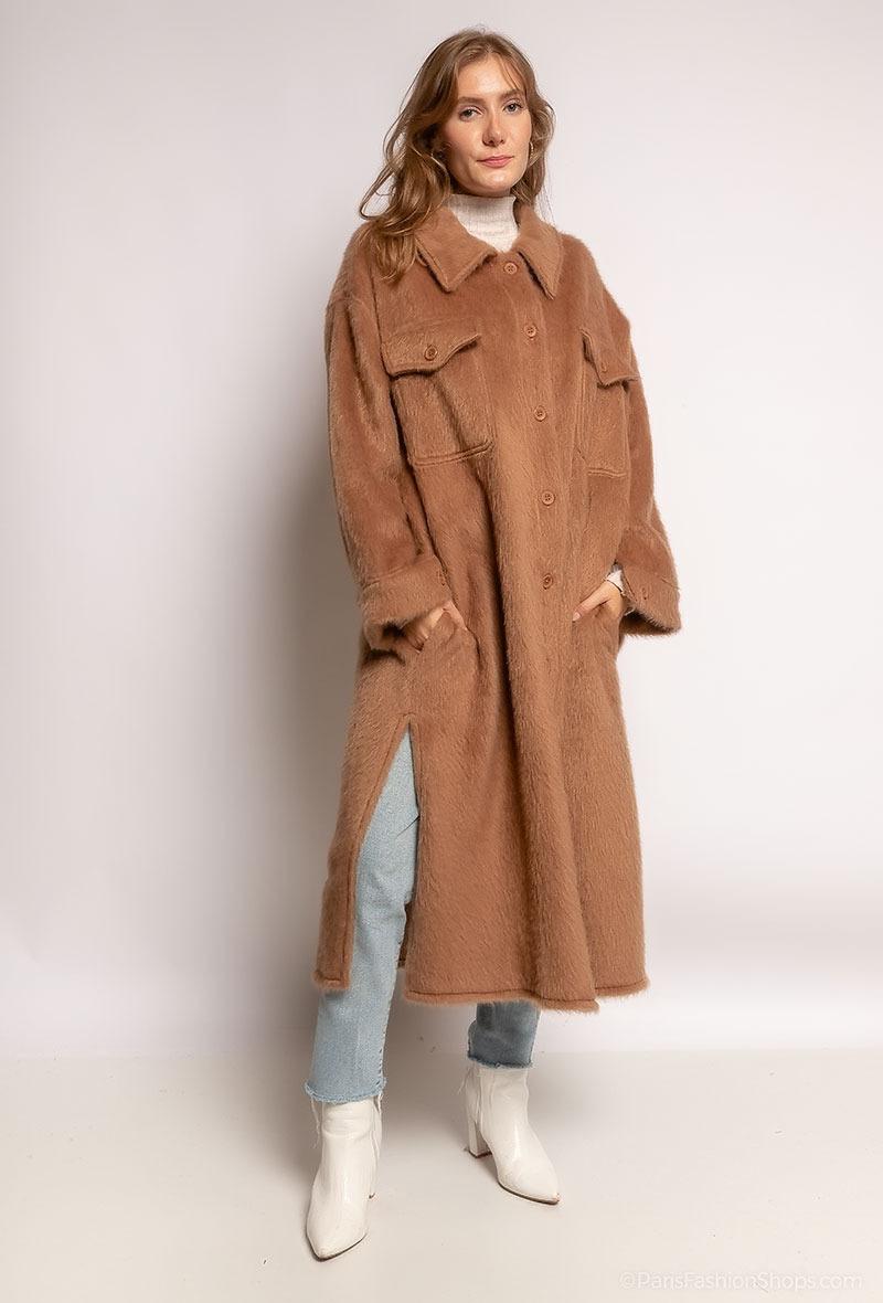 Fur Coat Lang Camel